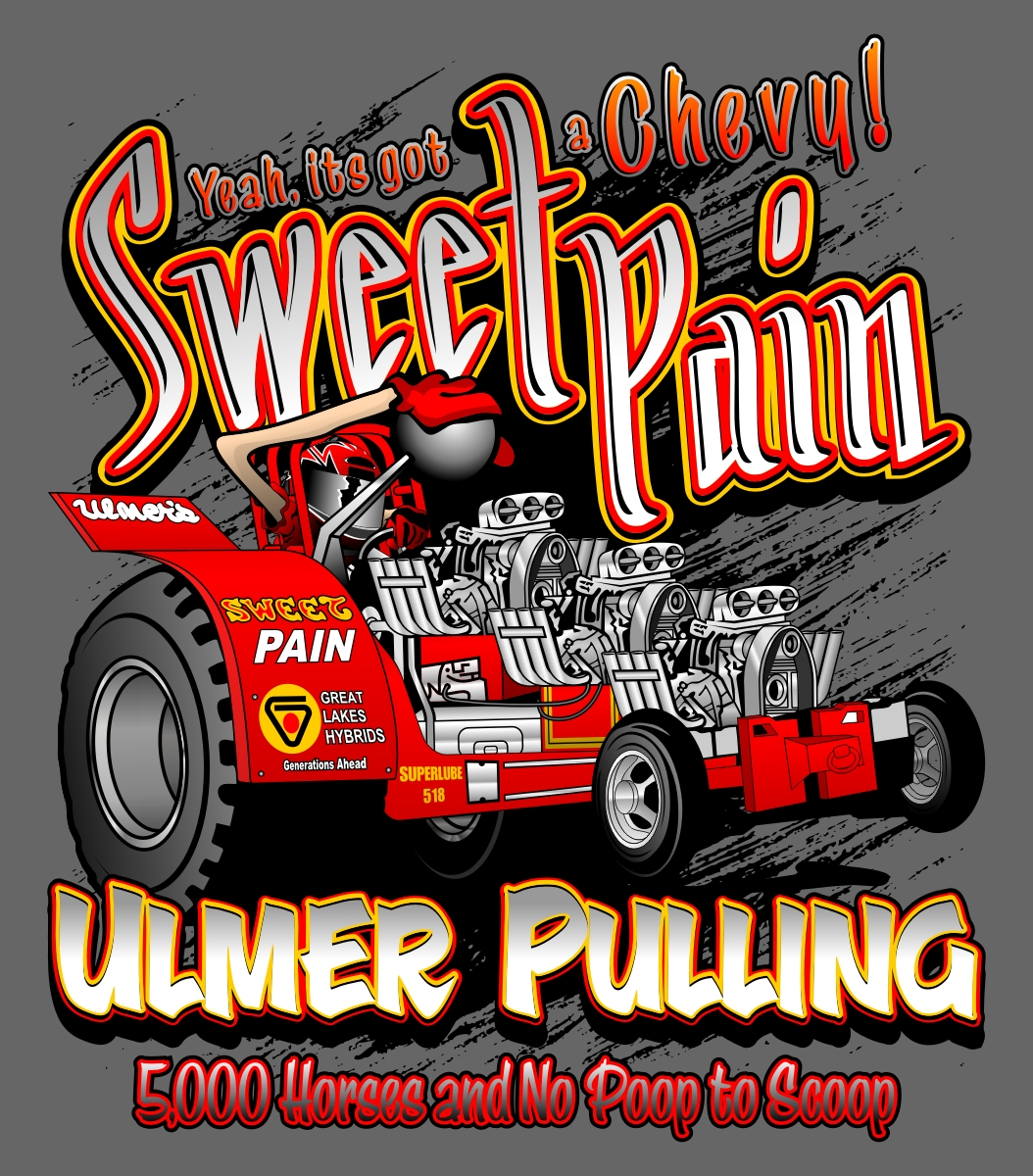 Custom Pulling Tractor T Shirts : Projects fluid designs inc