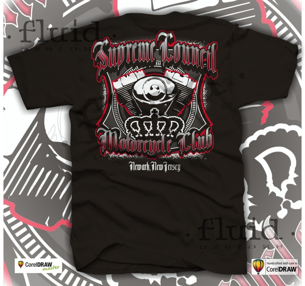 Design t shirt corel draw - Motorcycle Club T Shirt Layouts